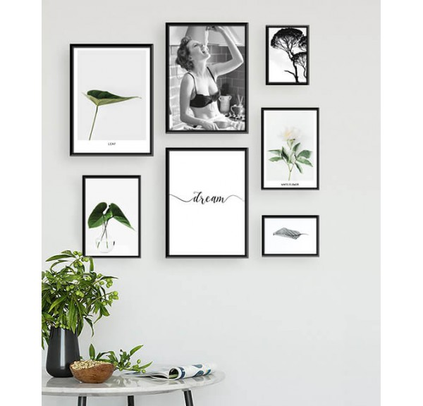 Set of 7 posters Naturally, that spaghetti