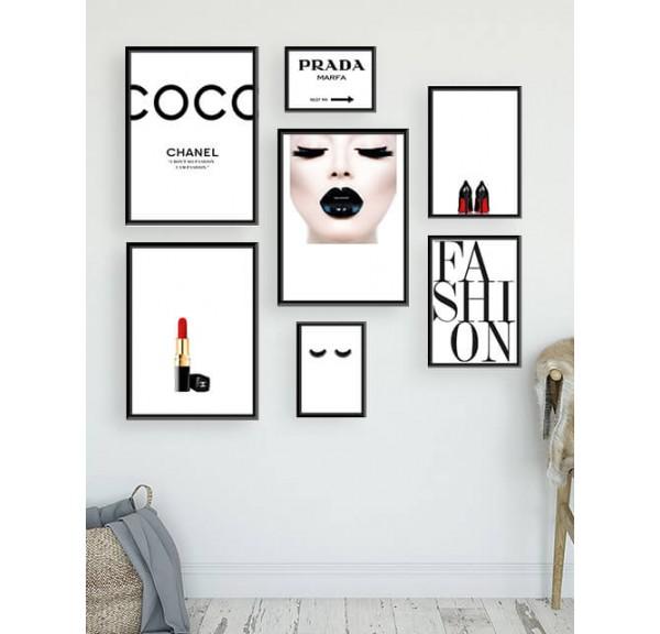 Zestaw 7 plakatów Fashion