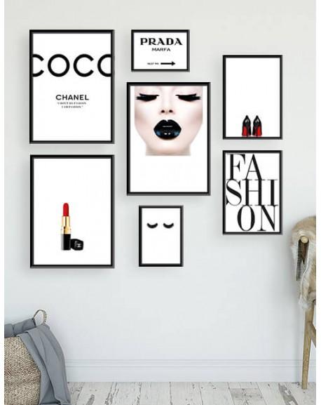 """Zestaw 7 plakatów """"Fashion"""""""