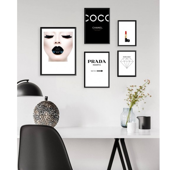 Set of 5 posters Fashion