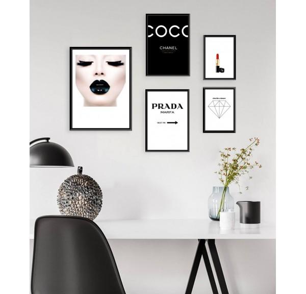 Zestaw 5 plakatów Fashion
