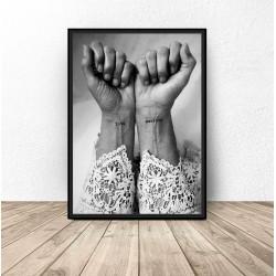 """Plakat dekoracyjny """"Love warrior"""""""