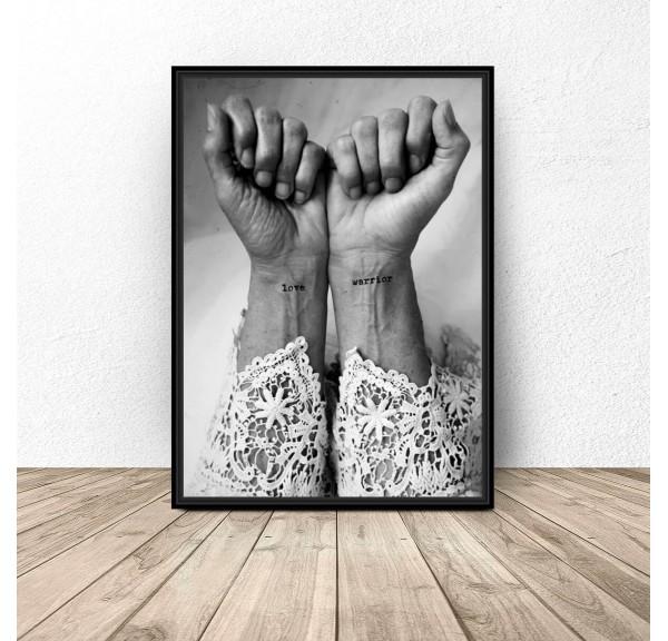 Decorative poster Love warrior