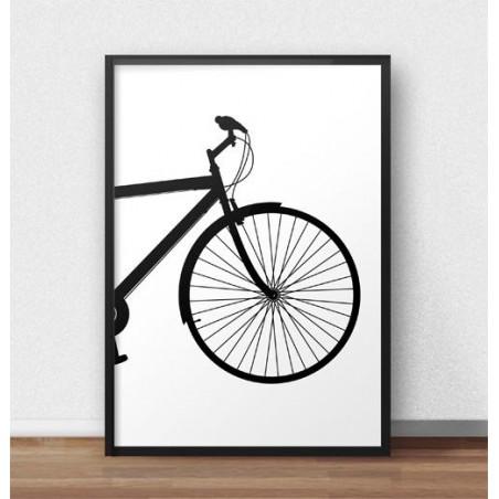 Plakat z przodem roweru miejskiego