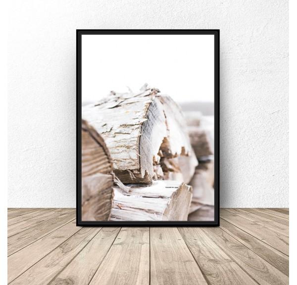 Plakat na ścianę Bale drewna