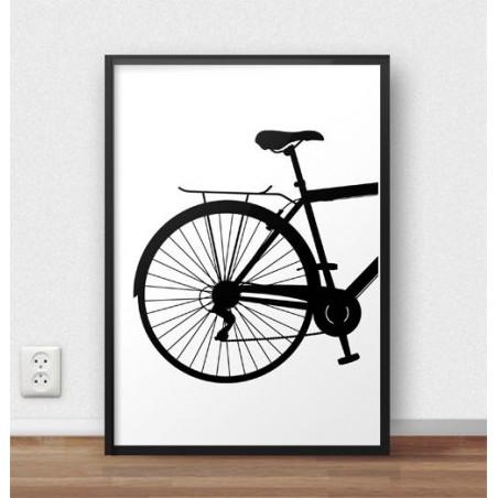 Plakat z tyłem roweru miejskiego