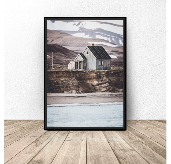 Poster for the wall Cottage above the fjord