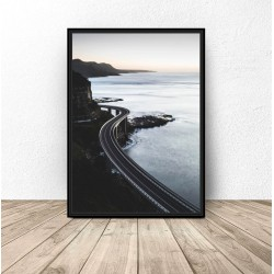 """Plakat """"Droga nad wybrzeżem"""""""
