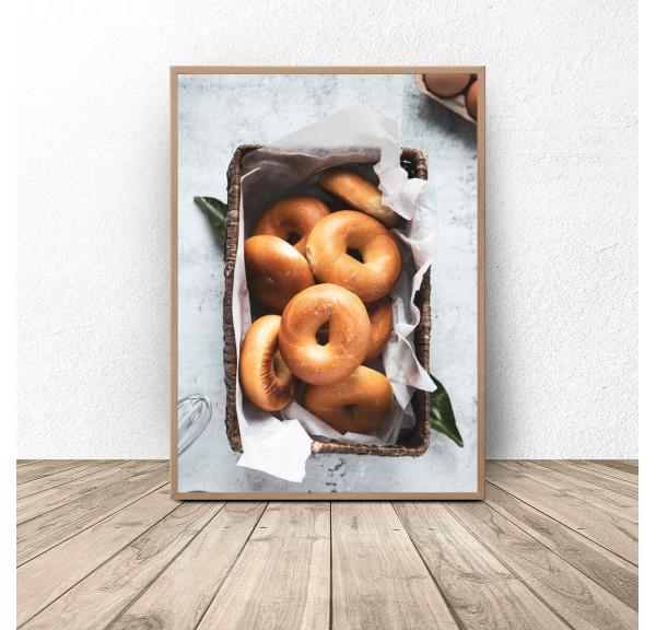 Plakat kuchenny Bajgle