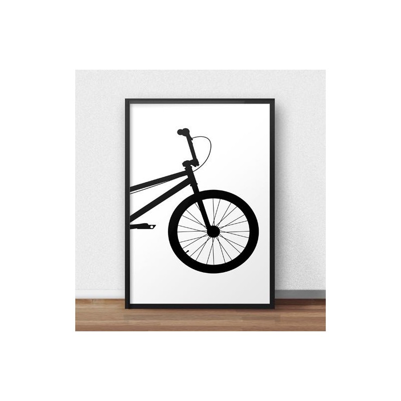 Poster with front of BMX bike