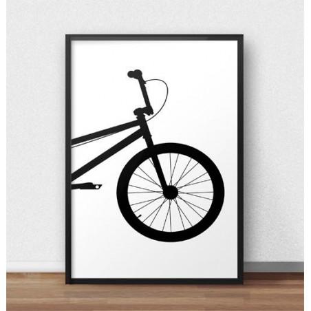 Plakat z przodem roweru BMX