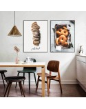 Set of two posters Bread and bagels