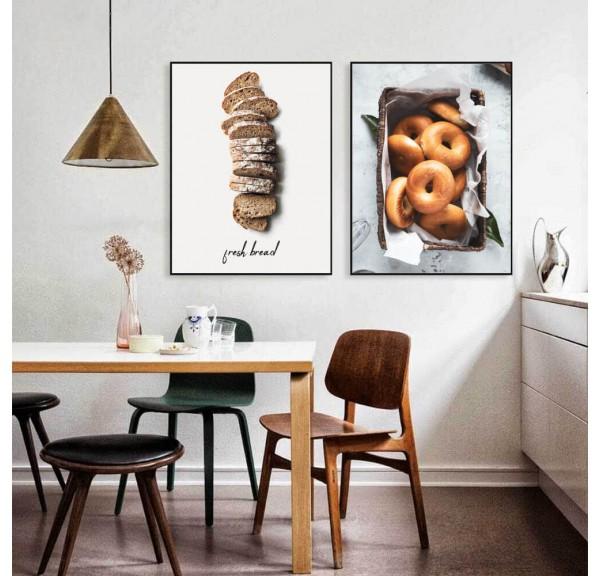 Zestaw dwóch plakatów Chleb i bajgle