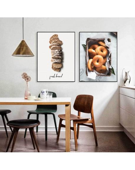 """Zestaw dwóch plakatów """"Chleb i bajgle"""""""
