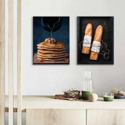 """Zestaw dwóch plakatów """"Pancakes i bagietki"""""""