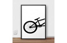 Plakat przedstawiający tył roweru BMX do powieszenia na ścianie lub postawienia na pólce