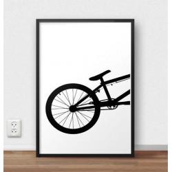 Plakat z tyłem roweru BMX