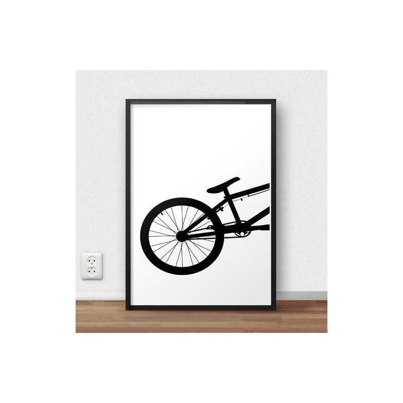 Poster with the back of the BMX bike