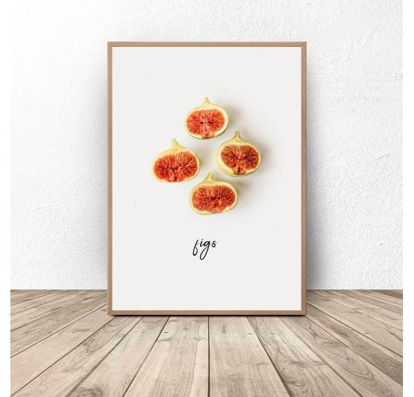 Plakat kuchenny Figi