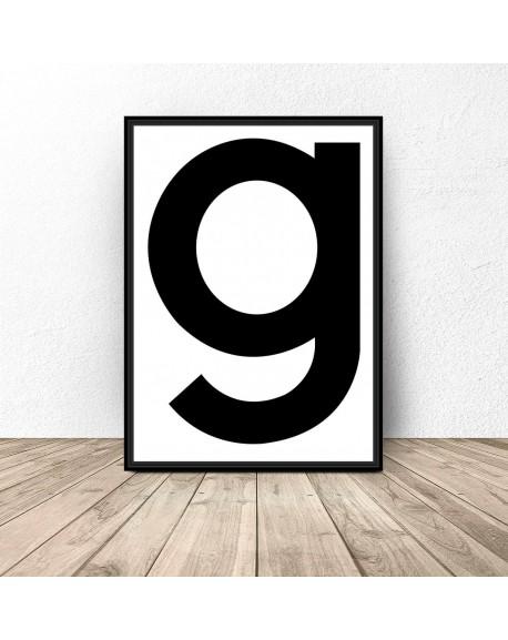 """Skandynawski plakat """"g"""""""