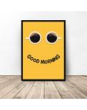 Plakat z kawą Good morning