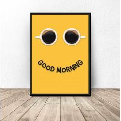 "Plakat z kawą ""Good morning"""