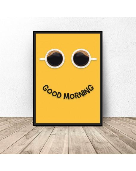 "Plakat z kawą ""Good morning"""