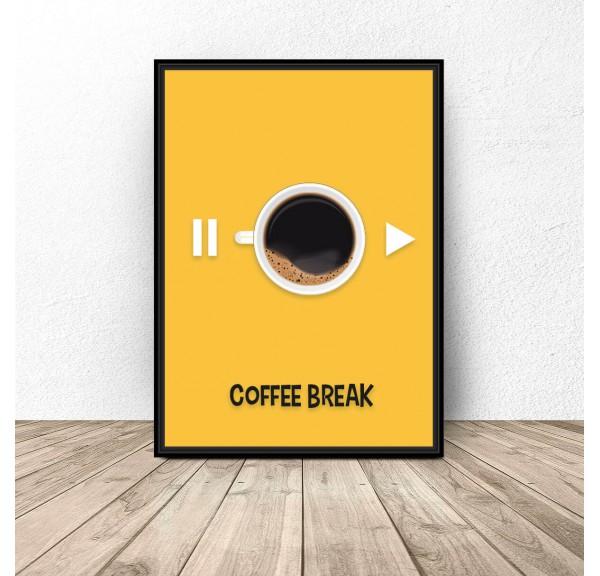 Plakat z kawą Coffee break