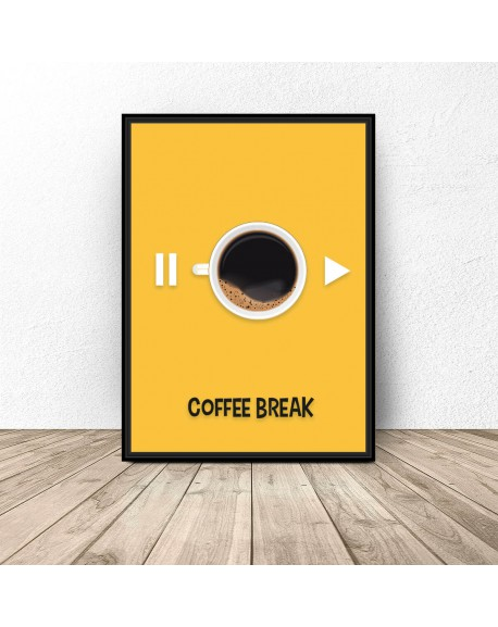 "Plakat z kawą ""Coffee break"""