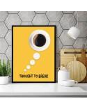 Plakat z kawą Thought to break 3