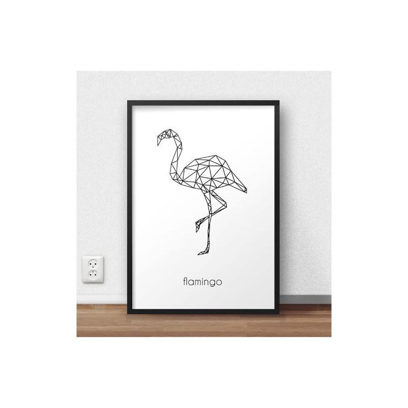 Poster with flamingos Flamingo