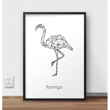 "Plakat z flamingiem ""Flamingo"""