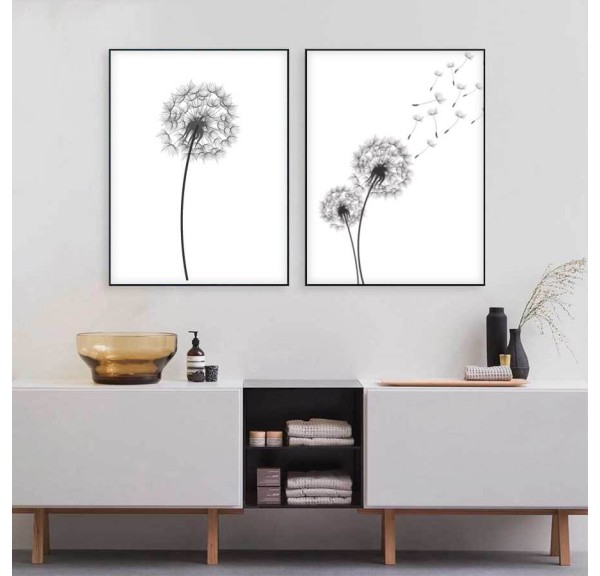 Set of two posters Dandelion