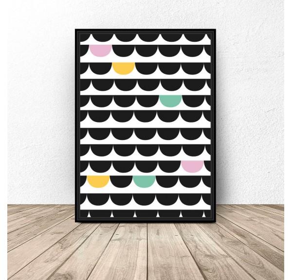 Plakat geometryczny Kolorowa abstrakcja