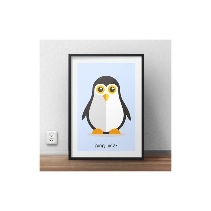 Poster for children Penguin
