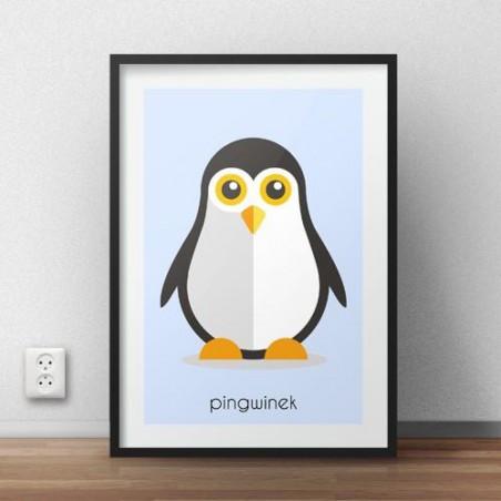 """Plakat dla dzieci """"Pingwinek"""""""