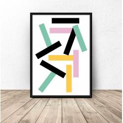 """Plakat geometryczny """"Prostokąciki"""""""
