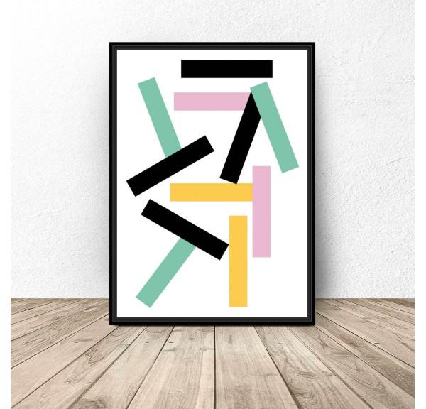 Plakat geometryczny Prostokąciki
