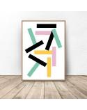Zestaw 2 kolorowych plakatów abstrakcyjnych 3