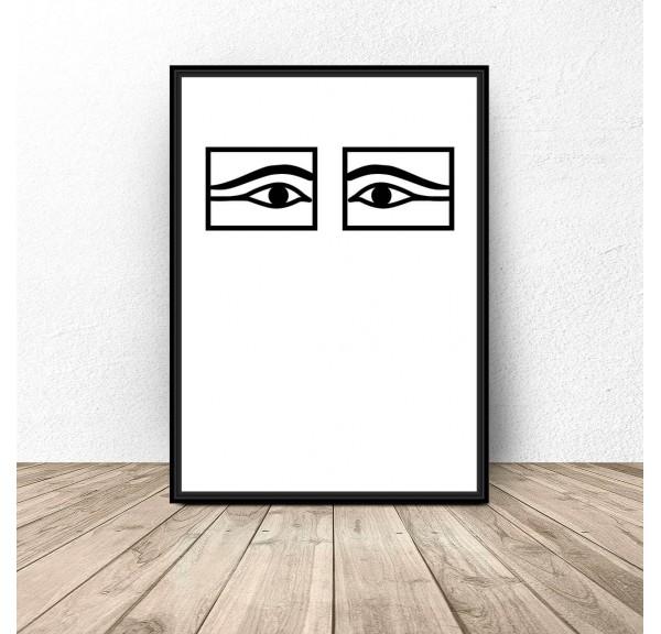 Plakat na ścianę Egipskie oczy