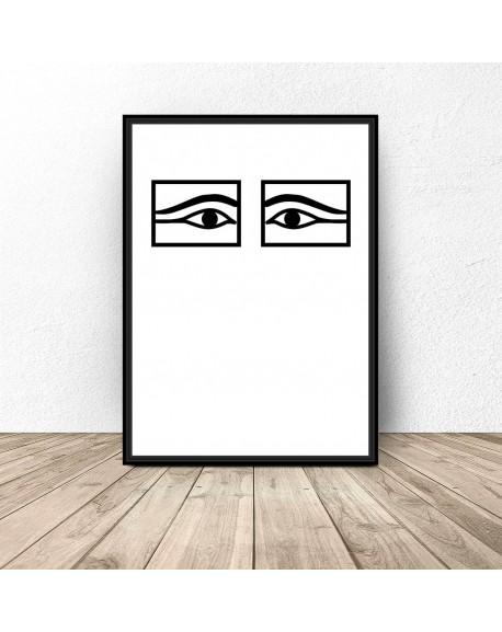 """Plakat na ścianę """"Egipskie oczy"""""""