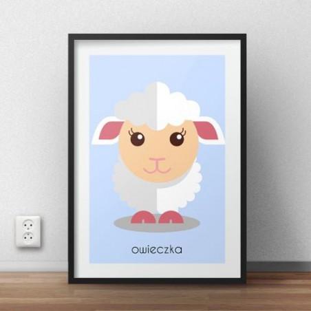 """Plakat dla dzieci """"Owieczka"""""""