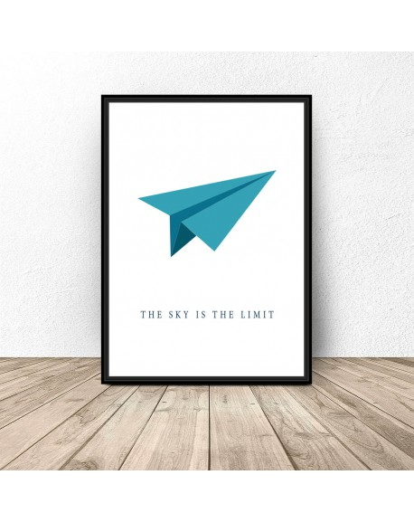 """Plakat motywacyjny """"Sky is the limit"""""""