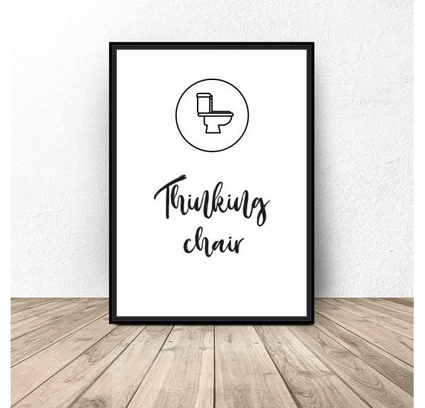 Plakat do łazienki i wc Thinking chair