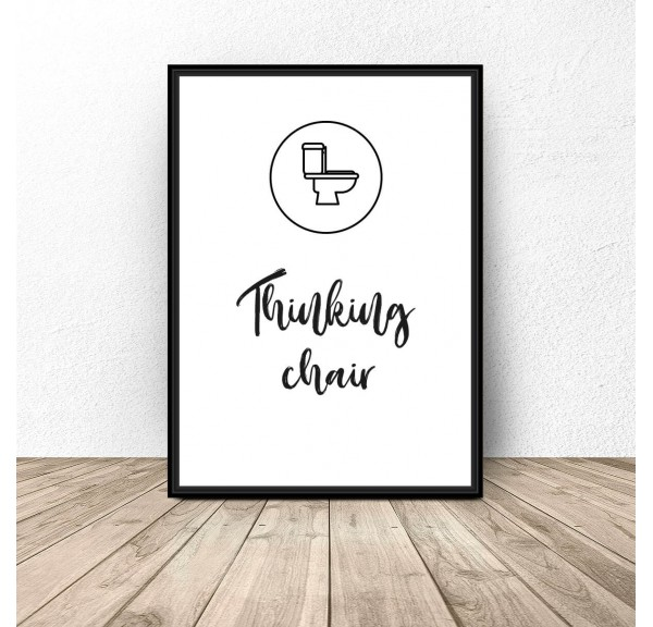 Poster for bathroom and toilet Thinking chair