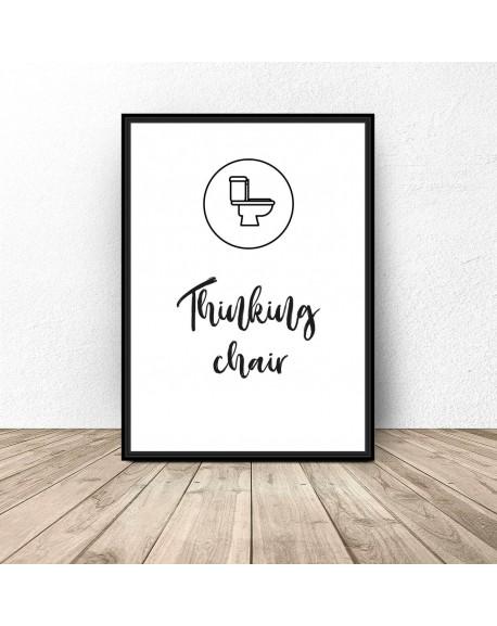 """Plakat do łazienki i wc """"Thinking chair"""""""