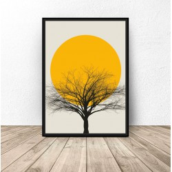 "Kolorowy plakat ""Sunset tree"""