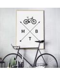 Plakat z rowerem MTB 3