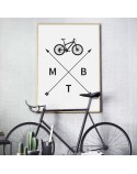 Poster with bicycle MTB 3