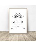 Plakat z rowerem MTB 2